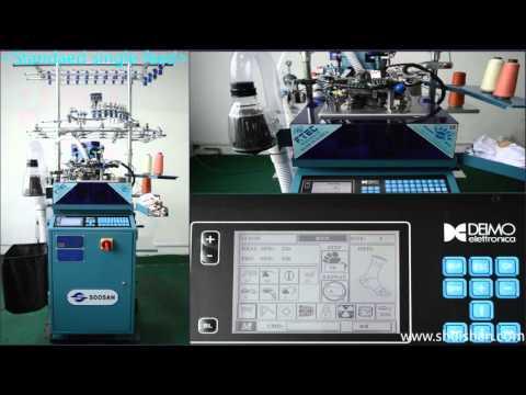 soosan fully computerized single cylinder socks knitting machine 604U