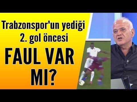 Trabzonspor'un yediği 2. gol öncesi faul var mı? Ahmet Çakar yorumladı