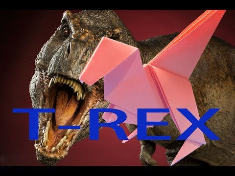 how to origami T Rex