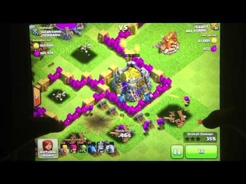 Clash of clans town hall 7 attack strategy for loot!!! Low cost!!!!