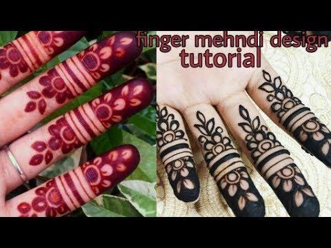 Mehndi Fingers Rating : So easy beautiful finger mehndi design for wedding occasion