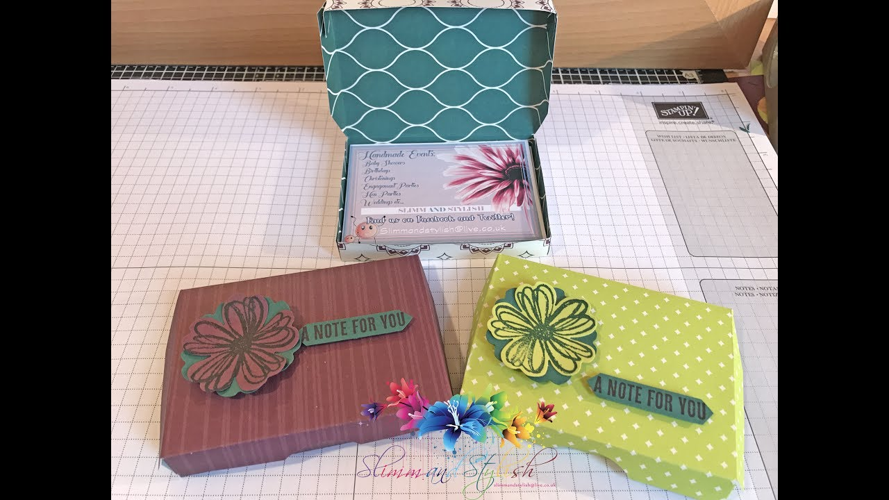 Stampin\' Up! Business card holder Box - YouTube