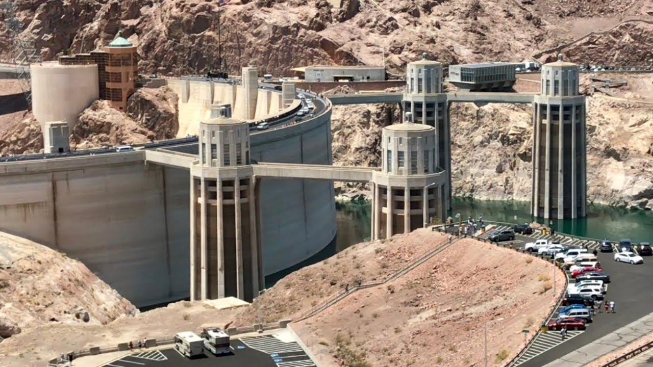 Hoover Dam And Water Intake Towers Stock Photo - Image of ... |Hoover Dam Water