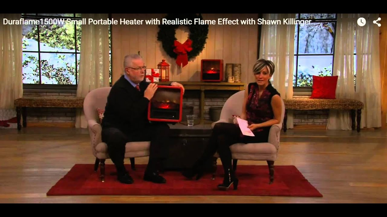 Best Portable Room Heater   Red Duraflame Heater   YouTube
