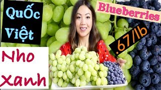 Ăn Nho Xanh & Trái Quốc Việt Rẻ Như Cho (Fruit MUKBANG)