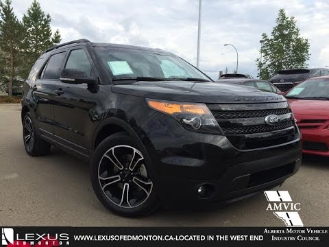 Used 2017 Black Ford Explorer 4wd Sport In Depth Review Stettler Alberta You