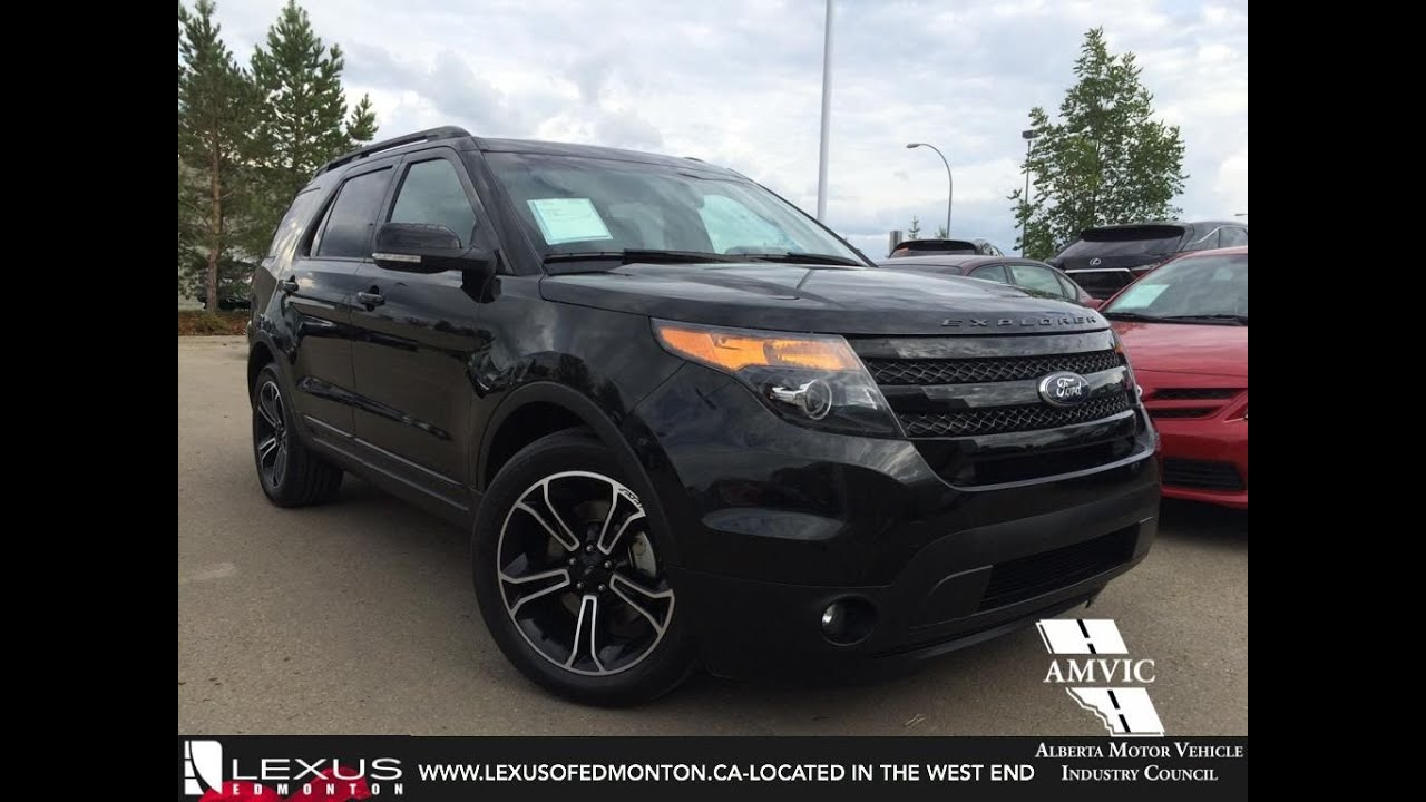 Used 2015 black ford explorer 4wd sport in depth review stettler alberta