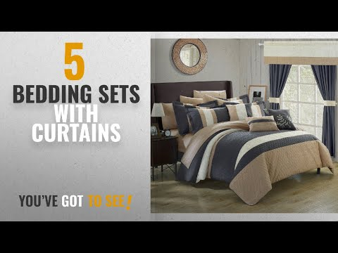Top 10 Bedding Sets With Curtains [2018]: Chic Home Covington 24 Piece Comforter Set Embroidered Bed