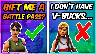 I asked strangers to BUY me a SEASON X Battle Pass... (FORTNITE DUO FILL)