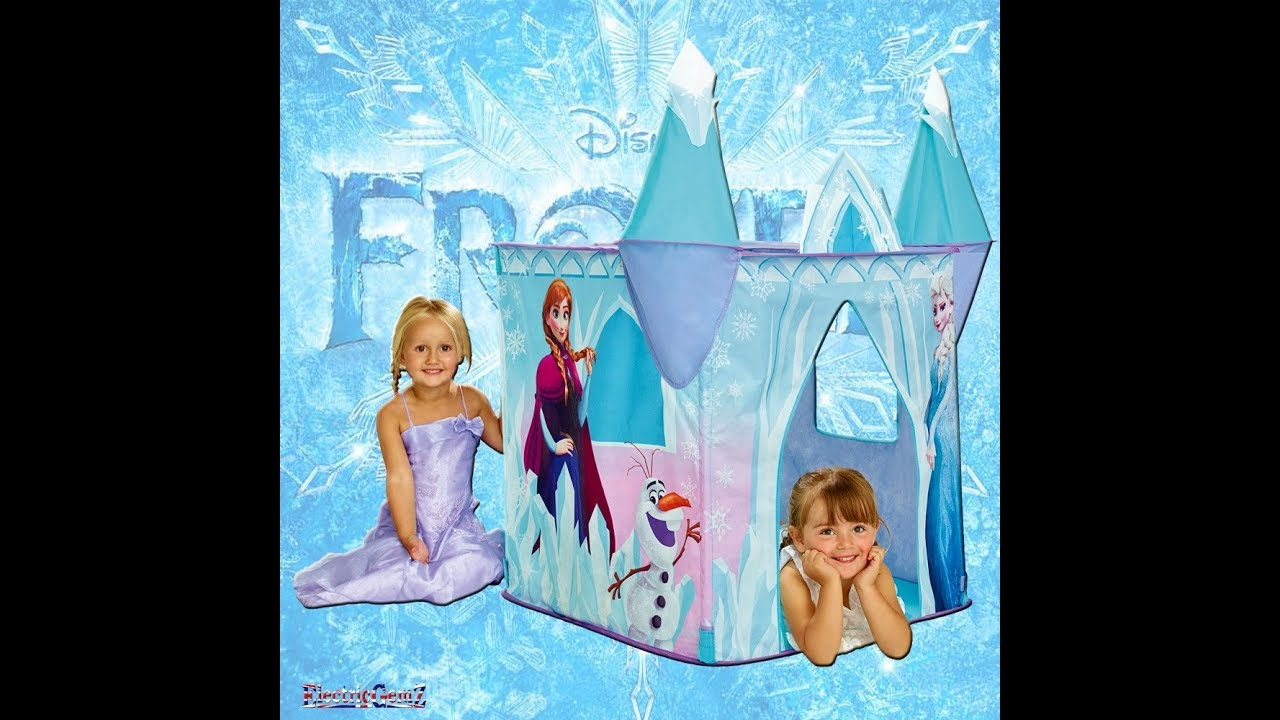 detailed look 99560 eda10 Disney Frozen Castle Play Tent Unboxing and Playtime Playhut Play Tent