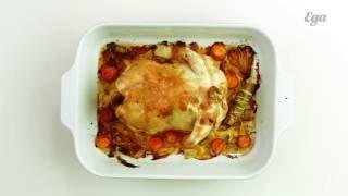 Запеченная курица с овощами. Мастер-класс Алексея Зимина.