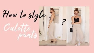 HOW TO STYLE - CULOTTE PANTS ItisRomane