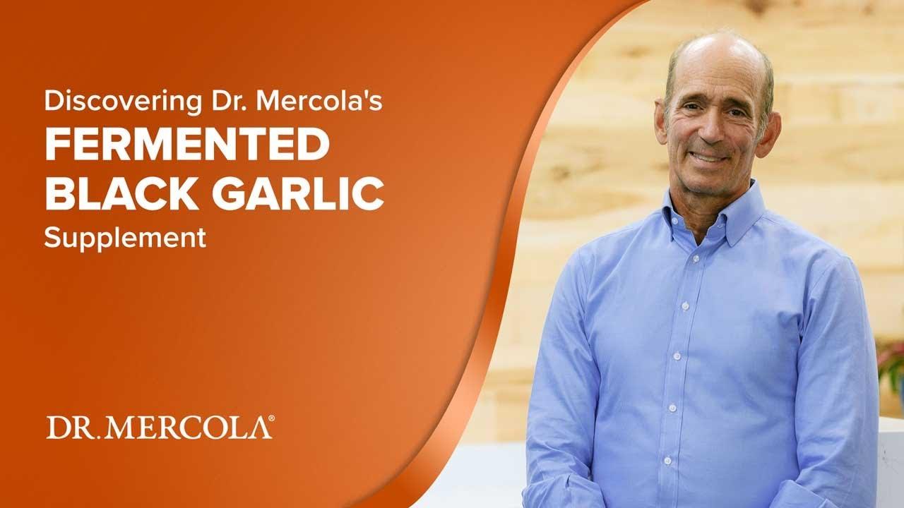 Dr  Mercola Fermented Black Garlic 60 capsules