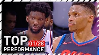 Russell Westbrook TOP Full Highlights vs 76ers - 37 Pts, 14 Ast, 9 Reb | 2018.01.28