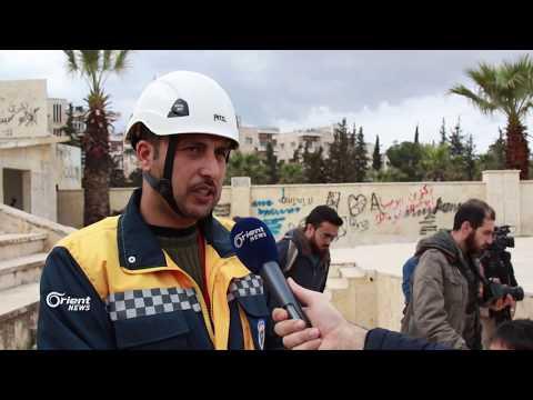 وقفة احتجاجية في مدينة ادلب نددت بمجازر ميليشيا النظام في الغوطة  - 18:21-2018 / 3 / 10