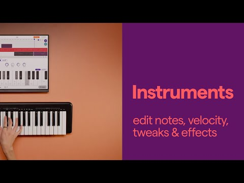 INSTRUMENTS - edit notes, velocity, tweaks & effects
