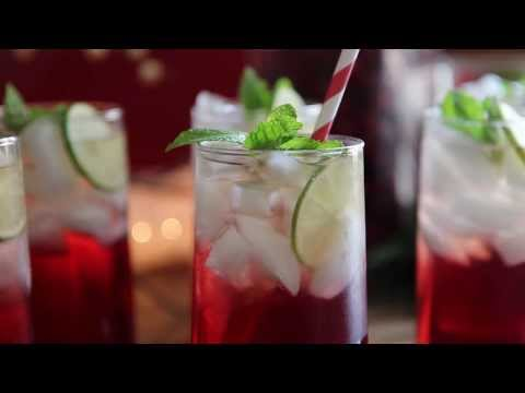 Sparkling Cranberry Lemonade Mocktails