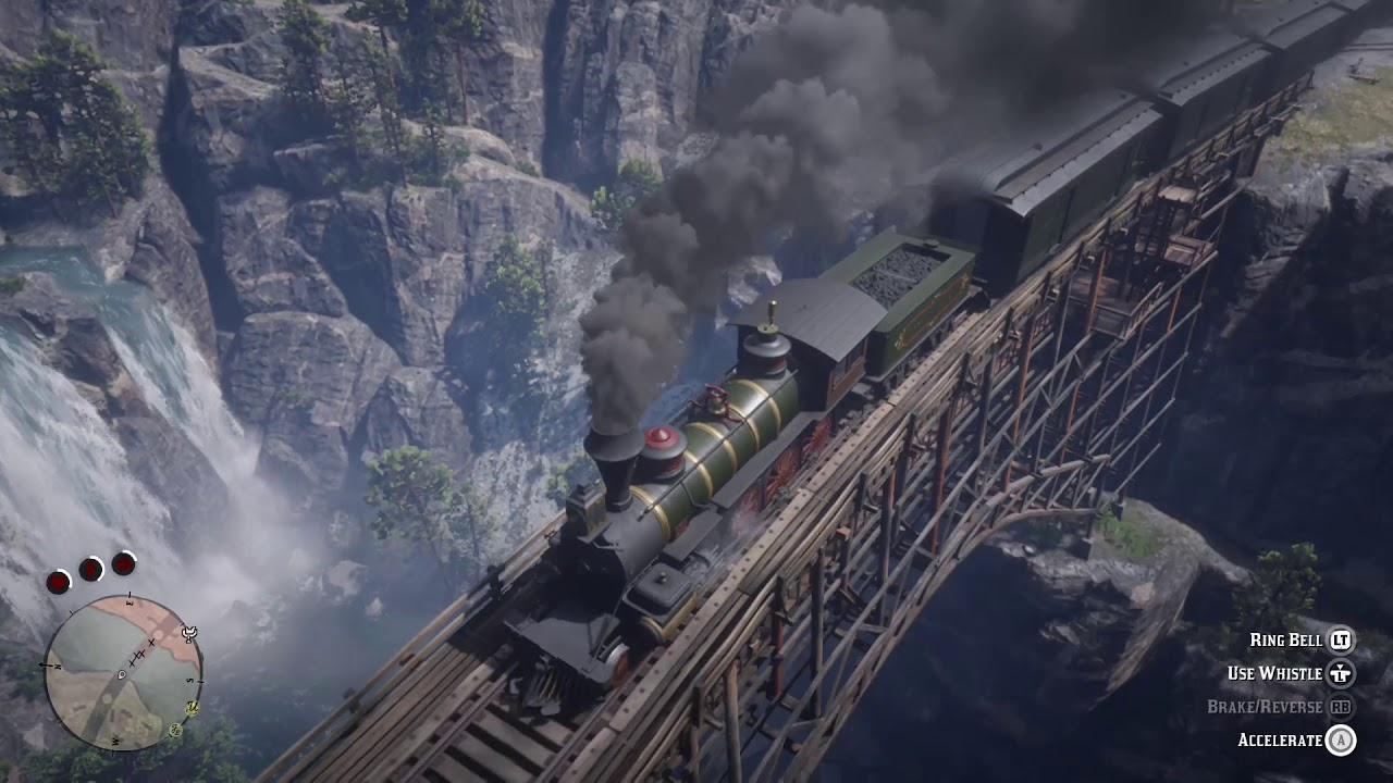 Red Dead Redemption 2 train robbery