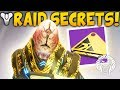 Destiny 2: HUGE RAID SECRETS! Skip To Boss Rooms, Exotic Puzzles, Watcher Stealth Guide