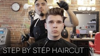 Men's Step by Step Faded Haircut | Modern Quiff Hairstyle for Summer