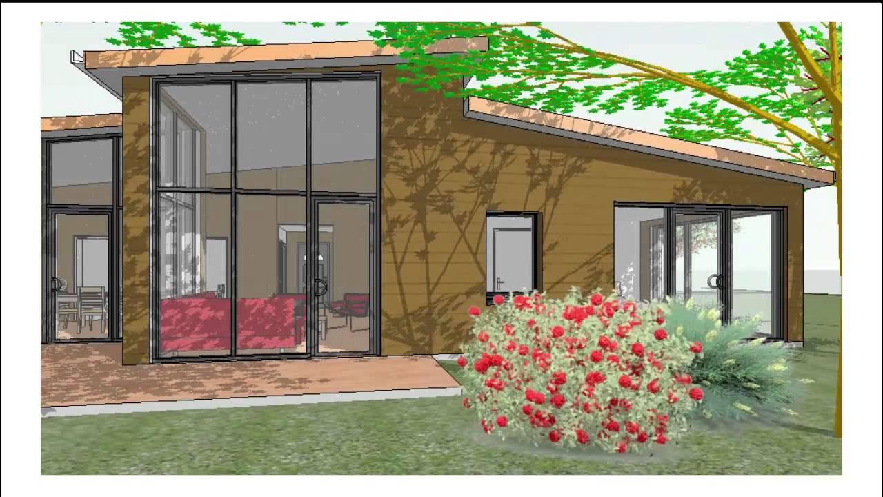 visite virtuelle maison bois t4 plain pied b 12140 d grand s jour cuisine 1 suite 3. Black Bedroom Furniture Sets. Home Design Ideas
