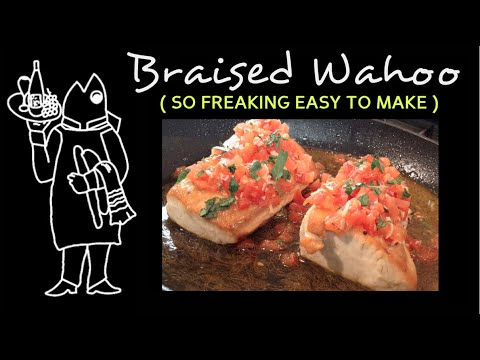 Easy Braised Fish Recipe: One-Pan, 15 Minute Wahoo Fillet Recipe!