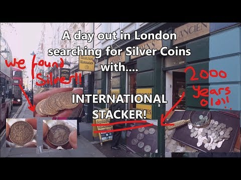 Searching for Silver Coins in London with International Stacker!