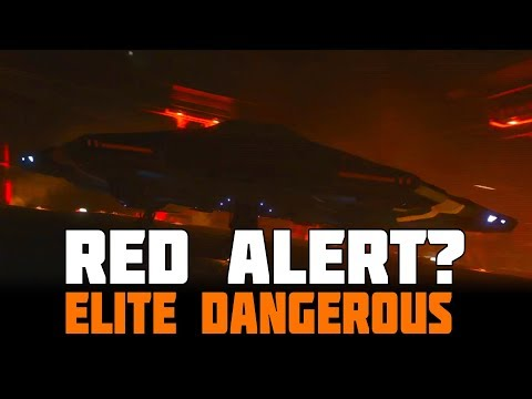 Elite Dangerous - Stations on Red Alert and Burning? (Trailer Speculation)