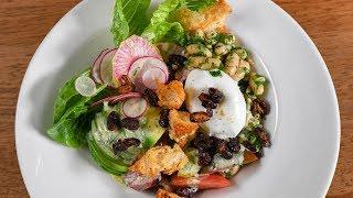 """Bean-LT Bowl: Vegetarian White Kidney Bean, Lettuce, and Tomato Bowl with Kidney Bean """"Fakin' Bits"""""""
