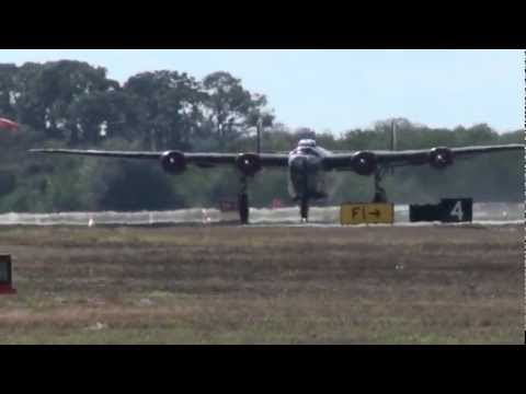 """LOW B-24 """"WITCHCRAFT""""  TAKEOFF!!!  FULL HD!"""