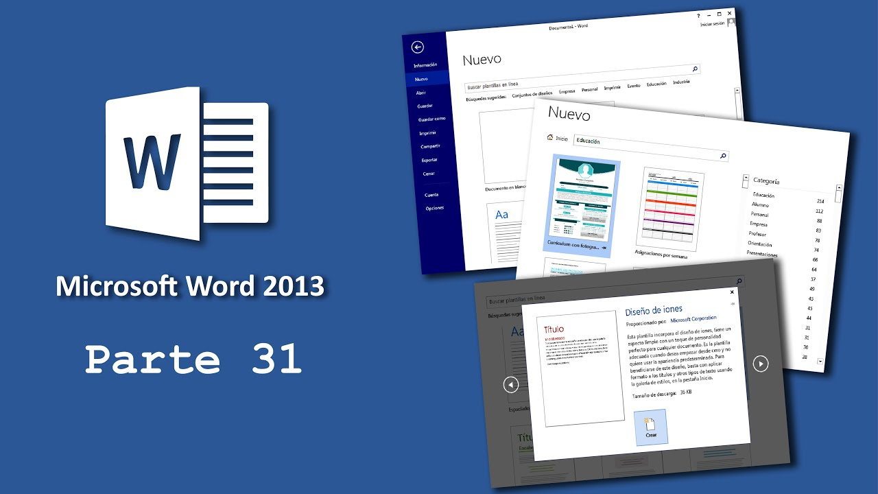 Microsoft Word 31) Plantillas de Word - YouTube