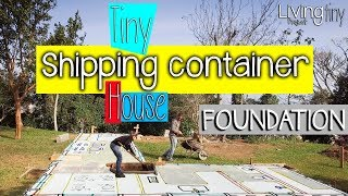 Foundation of our Shipping Container House - Site marking, levelling, excavation, footings - Ep. 001