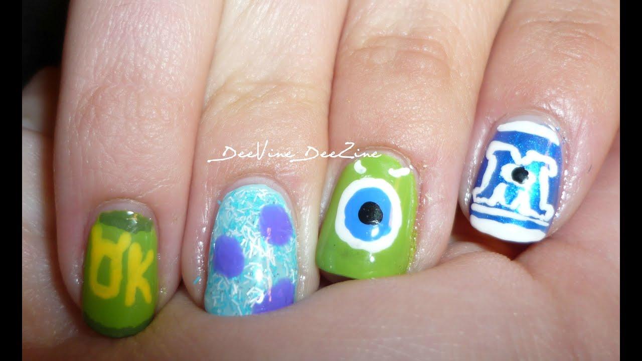 monsters nail art monster's