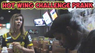 Hot Wings Challenge Prank!!
