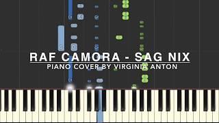 RAF Camora - Sag Nix - Piano Tutorial Instrumental Cover