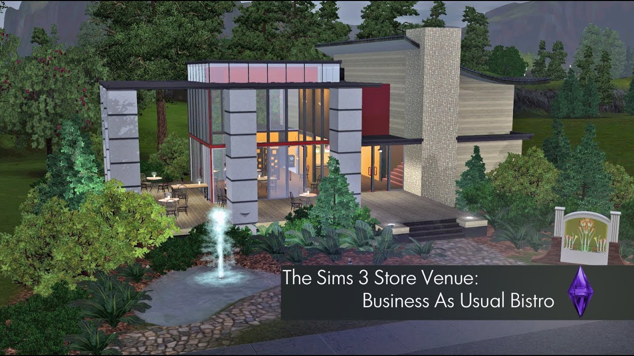 Sims 3 business as usual bistro (free download and hd) youtube.