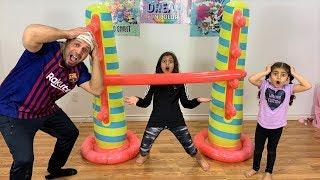 Kids Inflatable Limbo Challenge!! kids fun family game