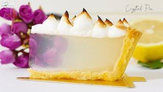 CRYSTAL LEMON MERINGUE PIE  HomeCafe  simple tart crust recipe from scratch  cooking diary ep. 25