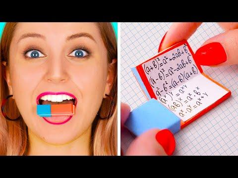 웃긴 DIY 학교용 팁 || 학교에서 쓸 쉬운 공예 및 팁! by 123 GO!