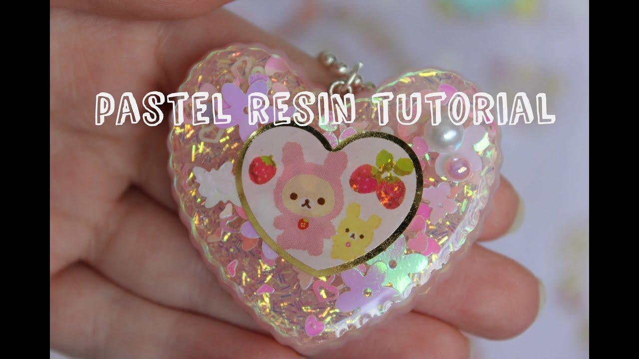 pastel resin charms tutorial