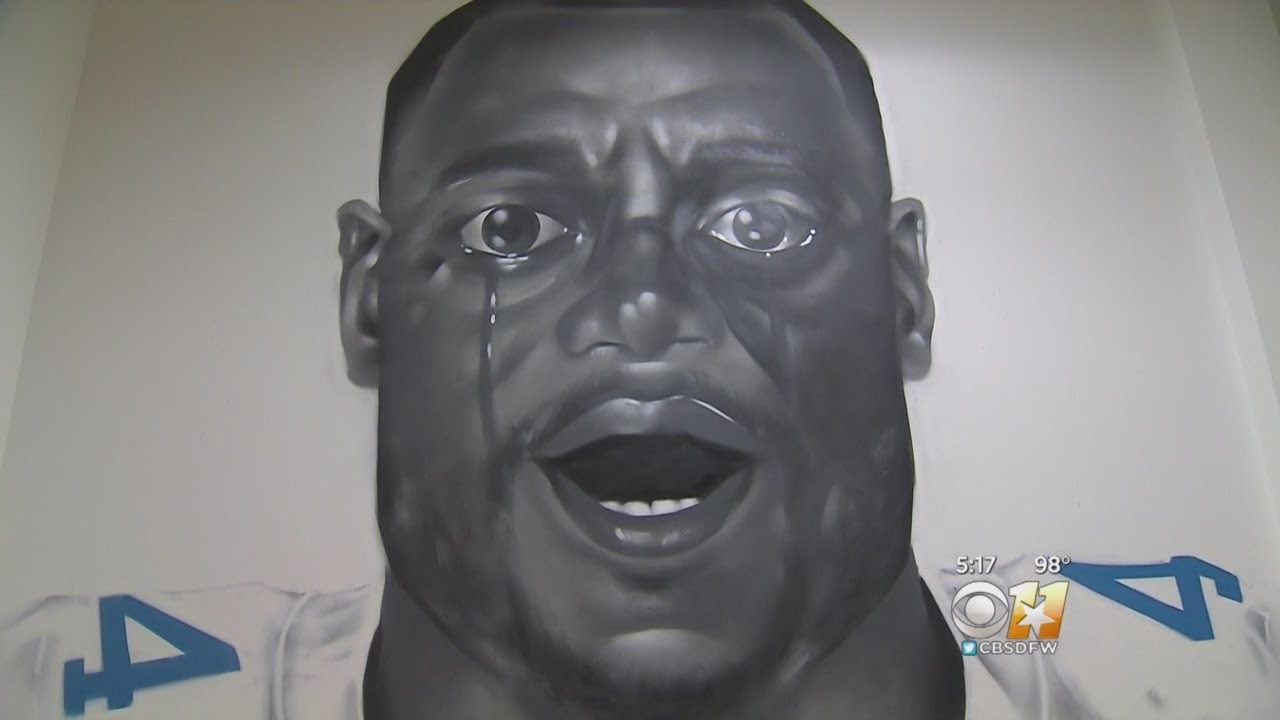 Get Out Portrait Of Dak Prescott Appears In Fort Worth Art Exhibit