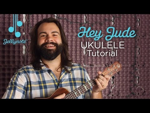 Hey Jude by The Beatles - Easy Ukulele Chords Tutorial (Jellynote Lesson)