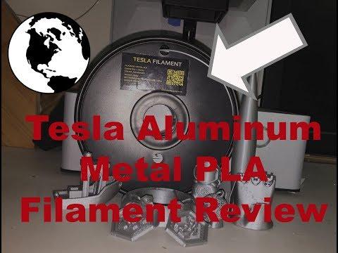 Tesla Aluminum Metal PLA Filament Review