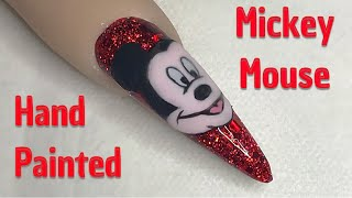 Mickey Mouse Nail | Hand Painted