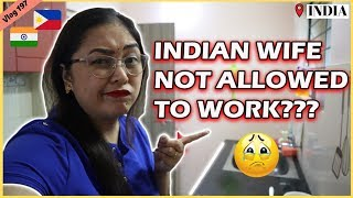 INDIAN WIFE NOT ALLOWED TO WORK? II Filipino Indian Family Vlog # 197 Video
