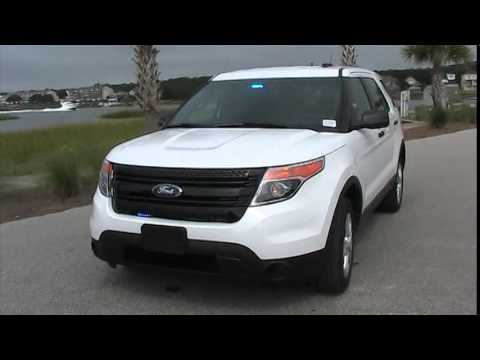 Blacked Out Explorer >> 2015 FORD EXPLORER POLICE EDITION FENIEX LIGHTING - YouTube