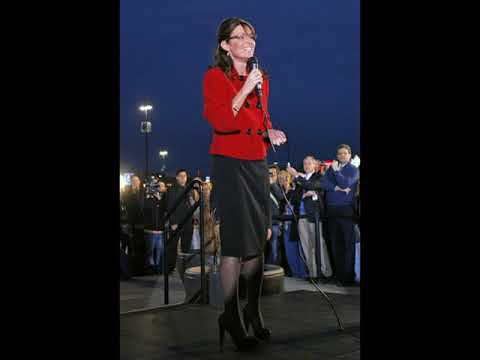 Sarah Palin`s Legs and Feet in Tights