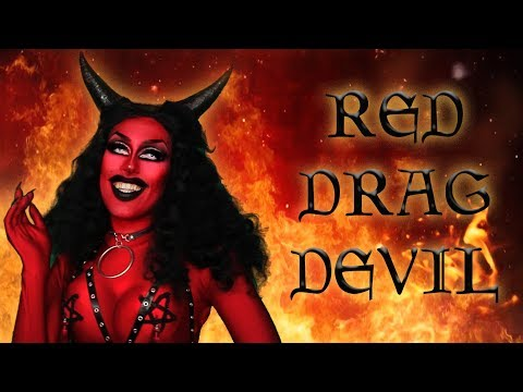 RED DRAG DEVIL | Drag Queen Makeup Transformation thumbnail