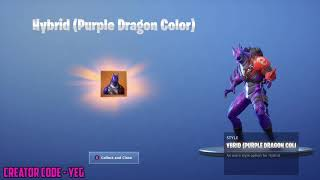 'NEW' UNLOCKING HYBRID STAGE 3 (PURPLE DRAGON COLOR STYLE) sur Fortnite Battle Royale Saison 8