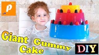 DIY Giant Gummy Cake Как сделать торт из желе  how to do birthday cake как сделать торт желейный